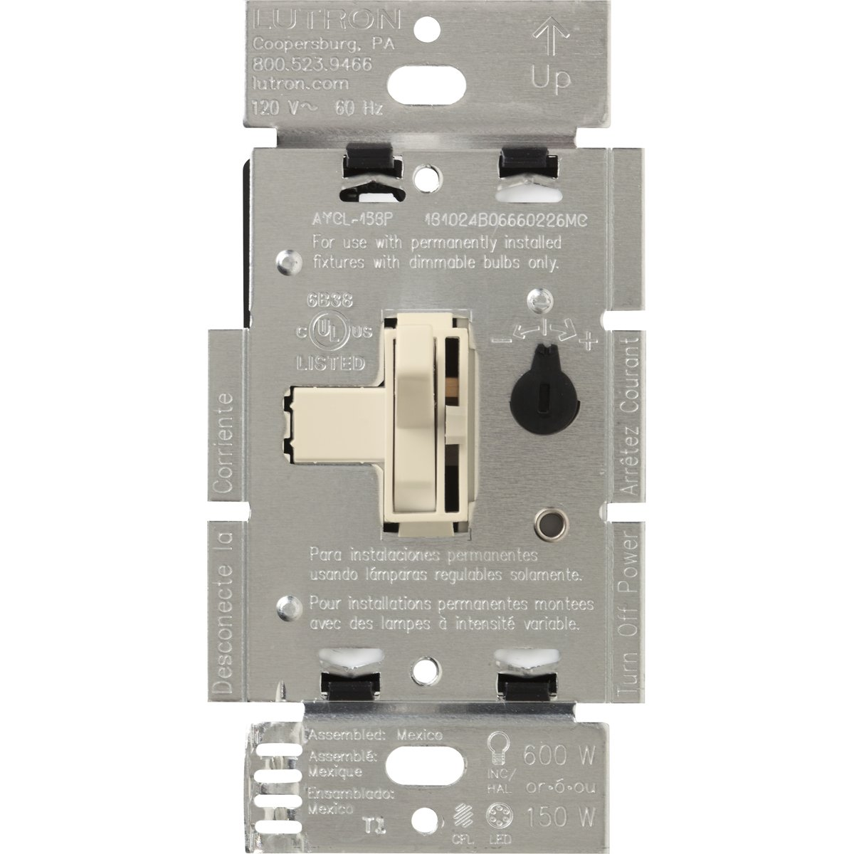 71WQR FMfhL._SL1200_ lutron tgcl 153ph la toggler cfl led single pole 3 way toggler lutron ayfsq-f wiring diagram at bayanpartner.co