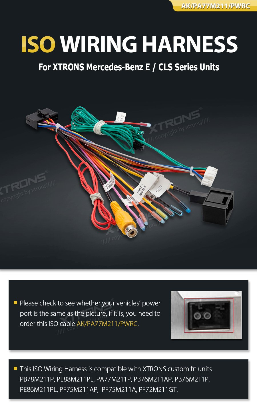 Xtrons Iso Wiring Harness Adaptor Connector Cable Wire Ford Turneo Audio Uk Electronics