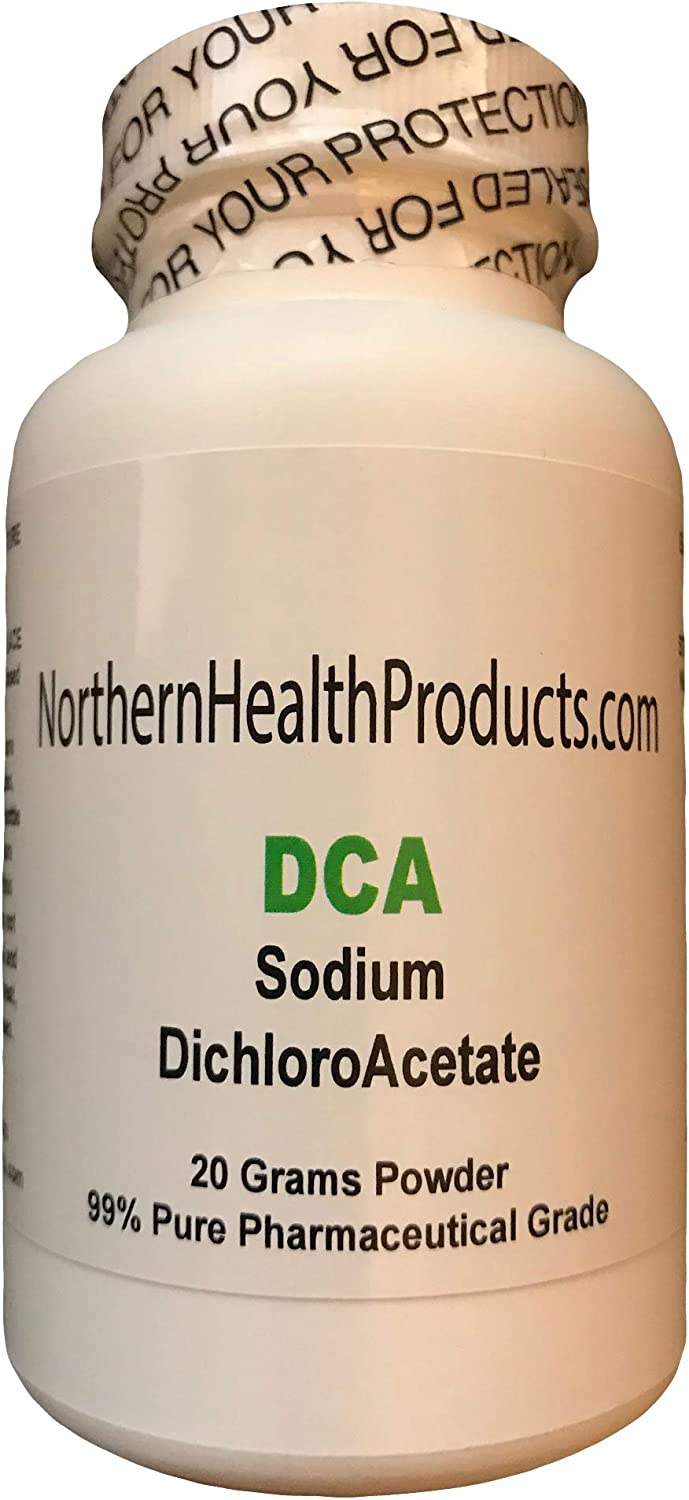 Amazon Com Pure 20g Dca Powder Sodium Dichloroacetate North American Made In A Certified Laboratory Absolutely No Animal By Products Or Fillers Highest Quality Available Buy Direct From The Source Health
