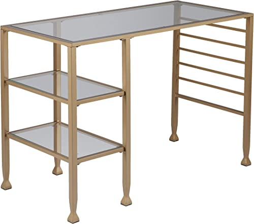 Gold Glass Office Table