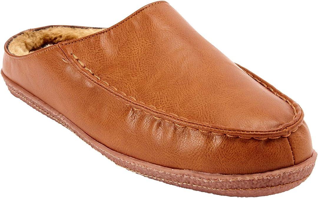 KingSize Mens Big /& Tall Microsuede Clog Slippers