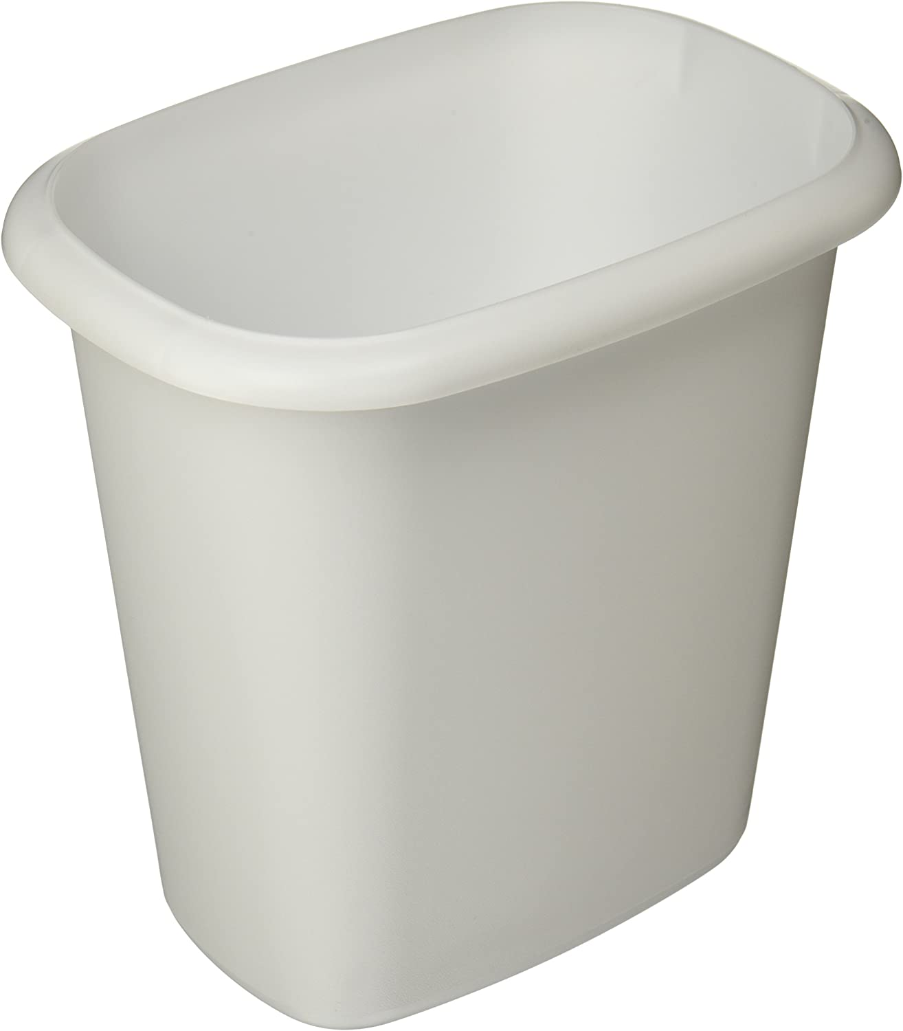 Rubbermaid Vanity Trash Can Wastebasket 6.0 quarts (FG295300WHT)