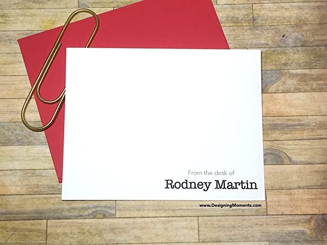 Amazon Com Mens Personalized Stationery Note Cards From The