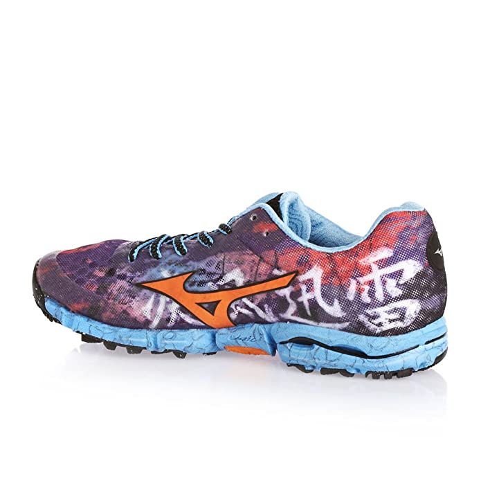 MIZUNO Wave Hayate Ladies Zapatilla de Trail Running Señora, Púrpura/Naranja, 38.5