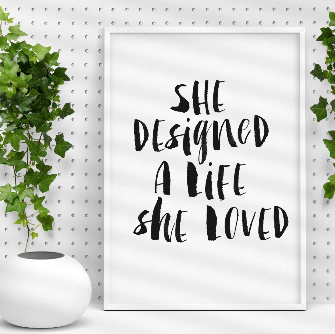 She Designed a Life She Loved watercolor Typography Poster Wall Decor Motivational Print Inspirational Poster Home Decor