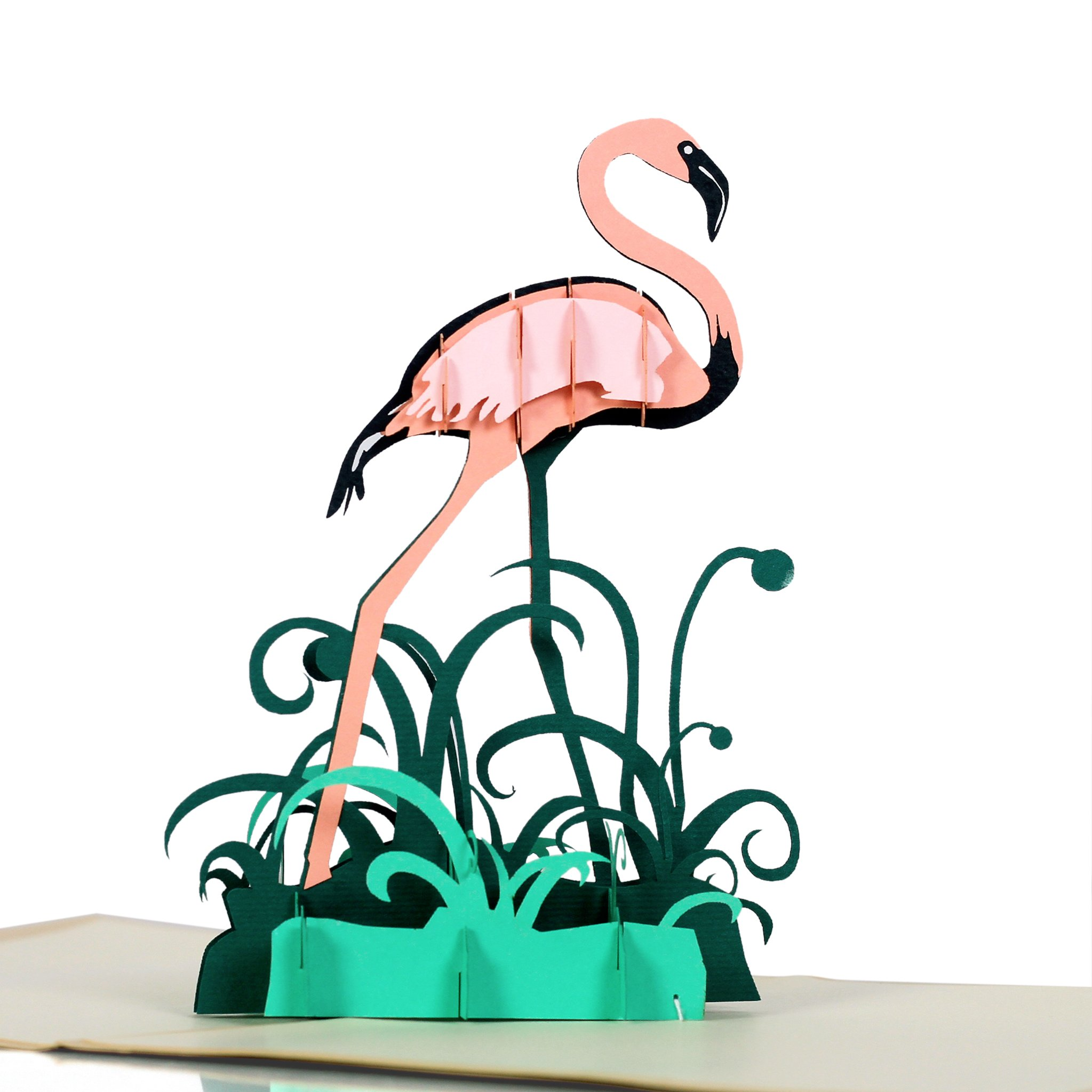 CUTEPOPUP Flamingo Bird 3D Pop up Greeting Cards –– Lovely Handmade Gifts for your friends – Ideal for Valentile Day, Birthdays, Mother's Day, Farther's Day, or any Occasion