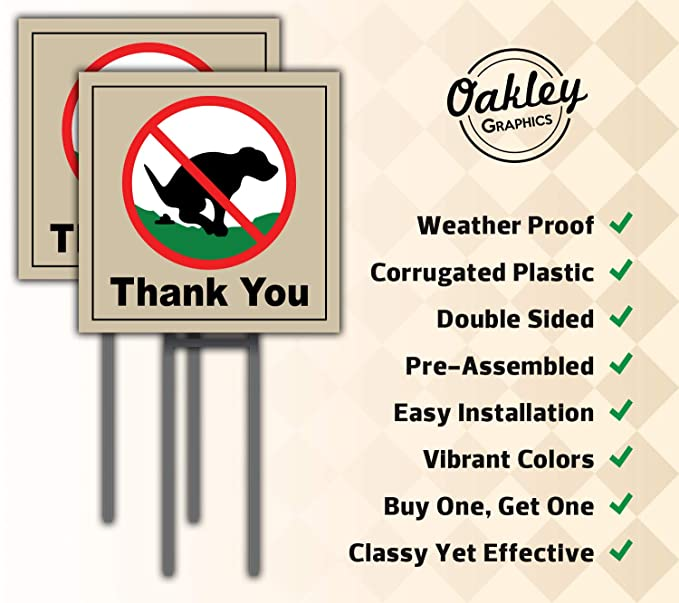 Amazon.com: Oakley Graphics Dog Poop Yard Sign – Incluye 2 ...