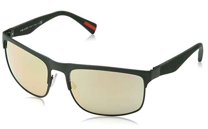 28d439cc7a7 Image Unavailable. Image not available for. Color  Sunglasses Prada Linea  Rossa PS 56PS UAZ2D2 GREEN RUBBER