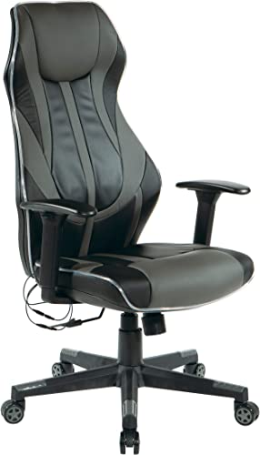 OSP Home Furnishings Gigabyte High-Back LED Lit Gaming Chair