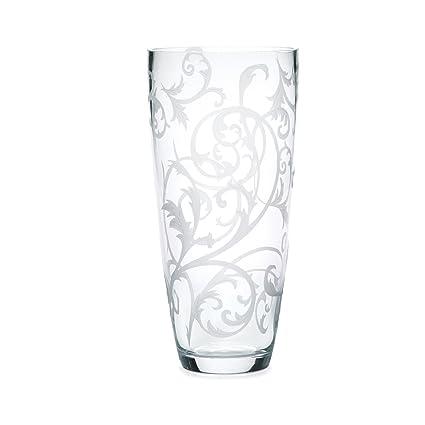 Amazon Mikasa Parchment Glass Vase 9 Inch Home Kitchen