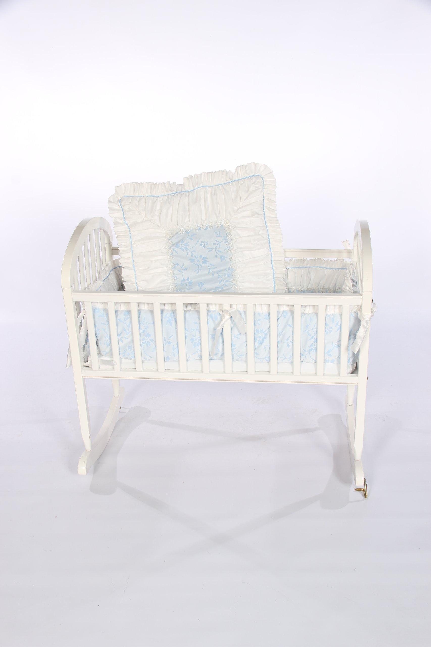Baby Doll Bedding Ruth Cradle Bedding Set, Blue