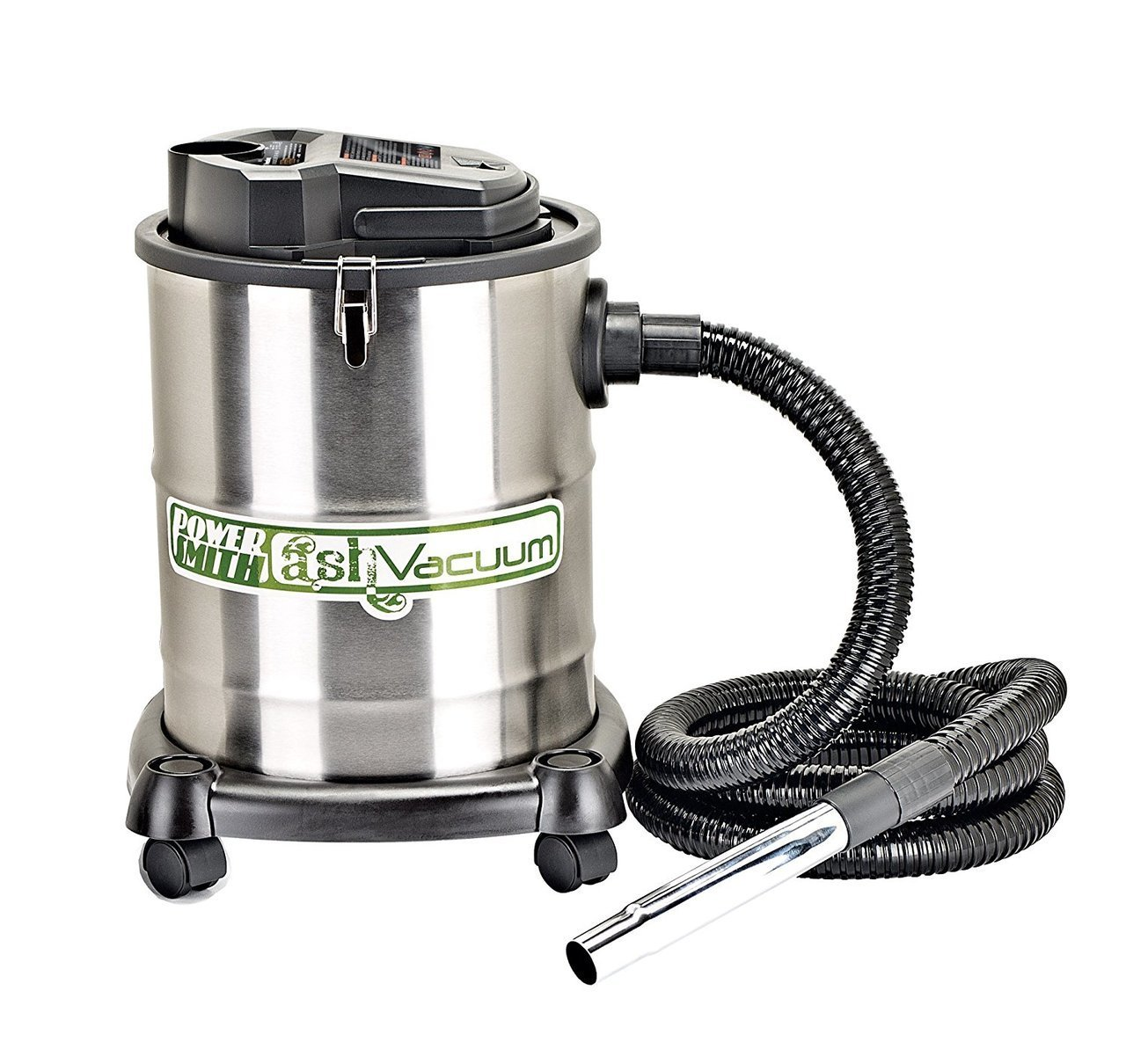 PowerSmith PAVC102 10 Amp 4 Gallon Ash Vacuum with 2 Ash Filters, Silver by PowerSmith