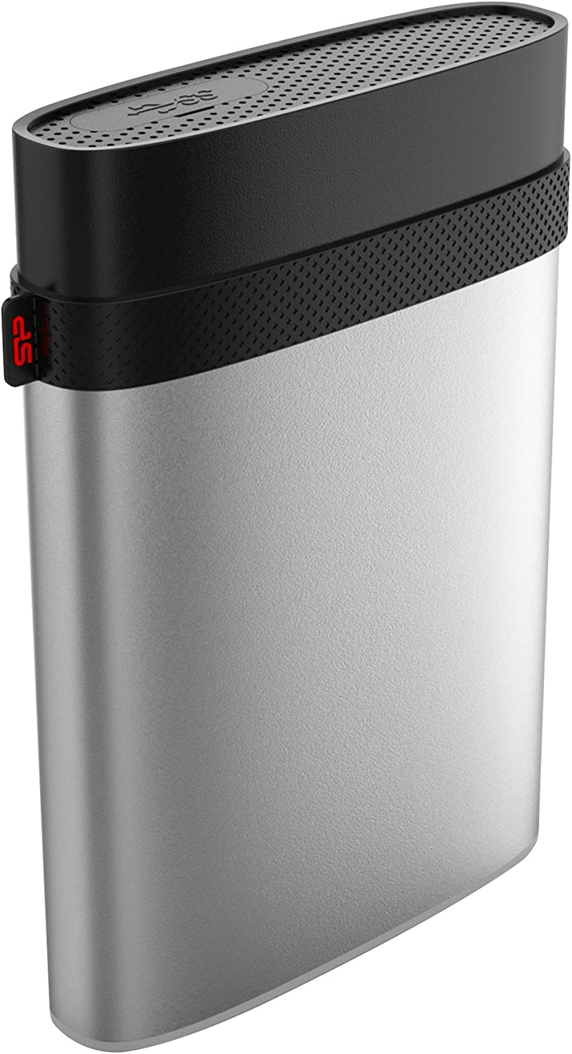 Silicon Power 2TB Armor A85M for Mac Military-grade Shockproof/IP68 Waterproof & Dustproof USB 3.0 2.5-inch External Hard Drive- HFS+ and Time Machine Supported, Silver ( SP020TBPHD85MS3S)