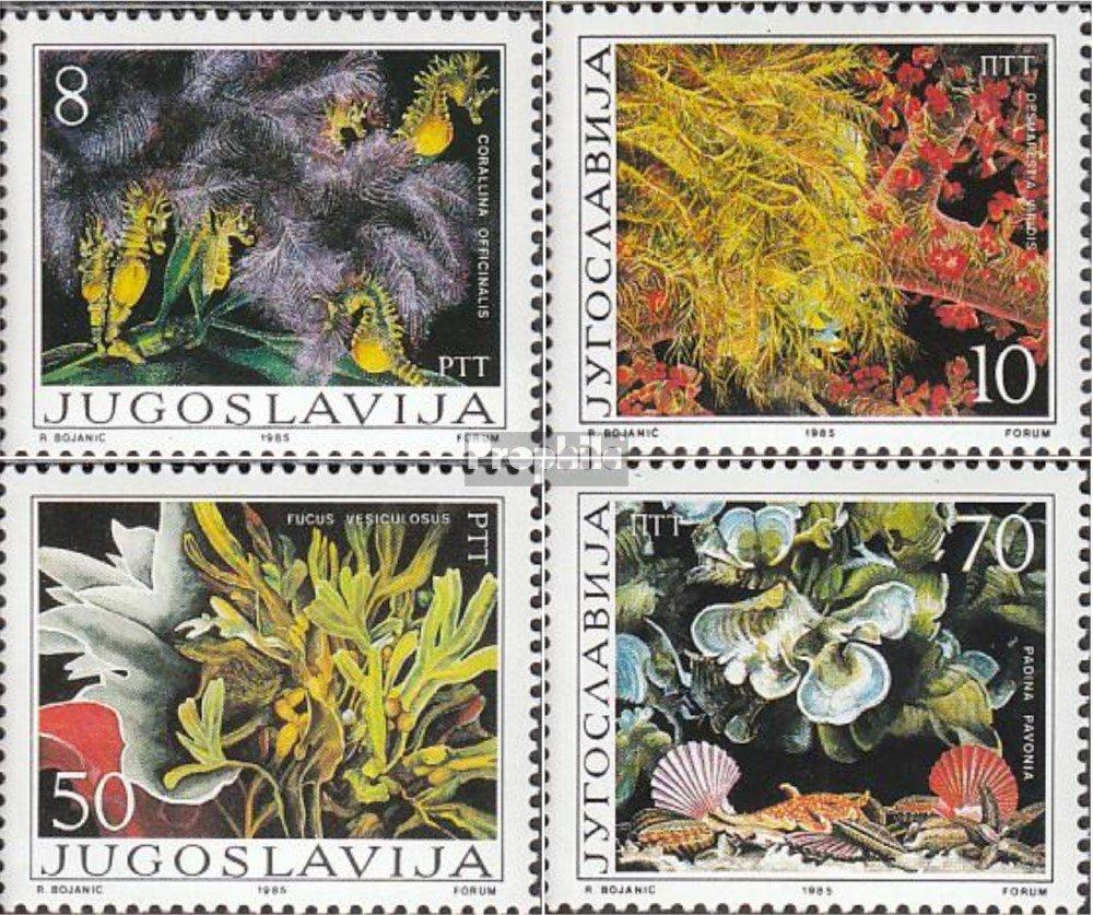 completa.edici/ón. Yugoslavia 2121-2124 nuevo con goma original 1985 Algas Prophila sellos para coleccionistas