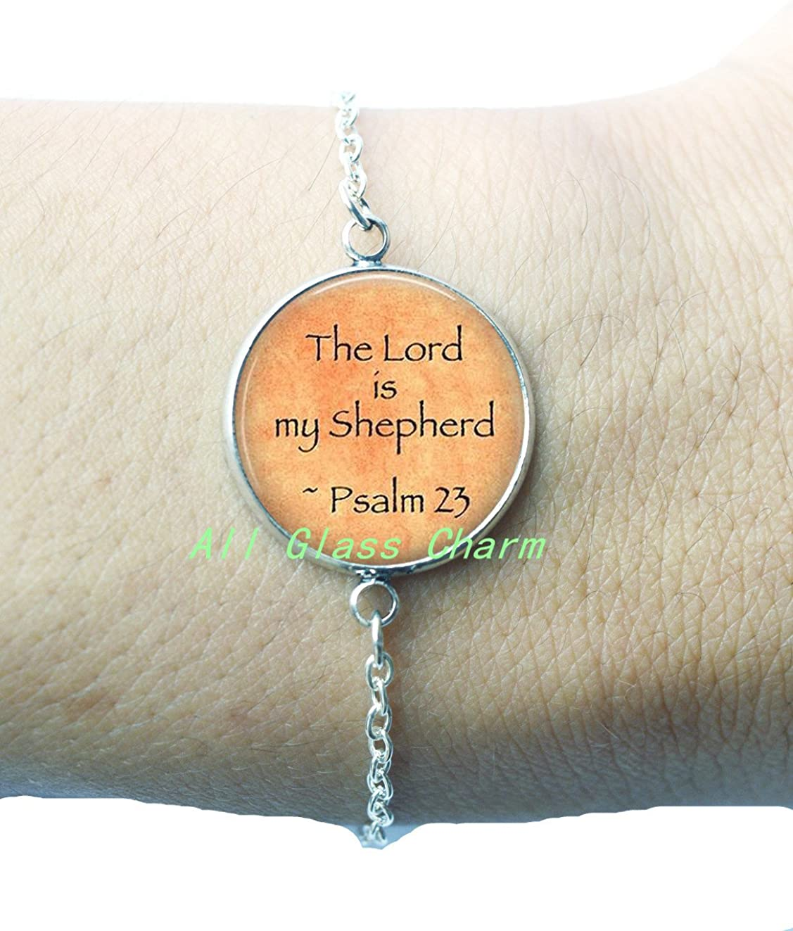 Comfort and Hope Bracelet,AS0212 Bible Quote Jewelry Psalm 23 Bracelet The Lord is my Shepherd Beautiful Bracelet,Scripture Bracelets Bible Verse Bracelet