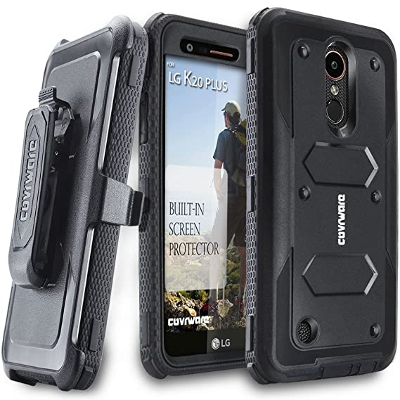 finest selection 40471 2885f LG K20 Plus / K20 V/Harmony / Grace 4G Case, COVRWARE [Aegis Series] with  Built-in [Screen Protector] Heavy Duty Full-Body Rugged Holster Armor Case  ...