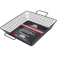 BBQ Masters Non-Stick Wire Mesh Grilling Basket - Grill Topper Barbecue Pan - Cook Vegetables, Seafood, Meats