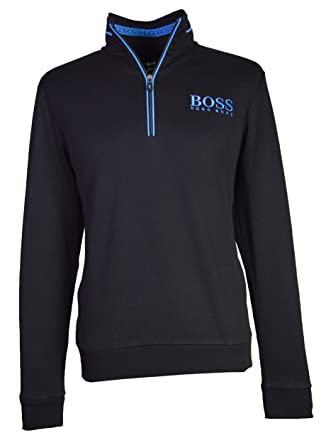 0edbf587 BOSS Hugo Men`s 1/2 Zip Sweatshirt - 50392547 - Black(001) (X Large):  Amazon.co.uk: Clothing