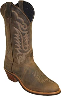 product image for Abilene Men's Women's Distressed Western Boot Round Toe Brown 8 EE
