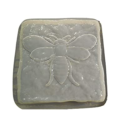 Stone Look Bumble Bee Stepping Stone Concrete or Plaster Mold 1328: Home & Kitchen