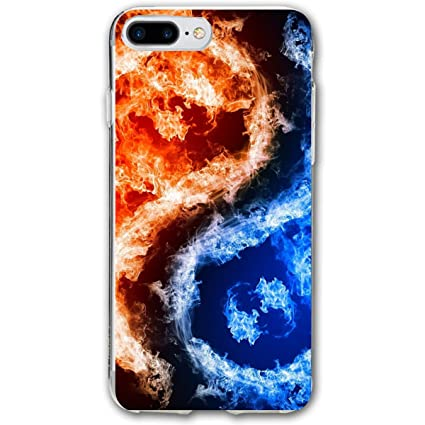 Amazoncom Fire Ice Yin Yang Iphone 78 Plus Case Cover Phone