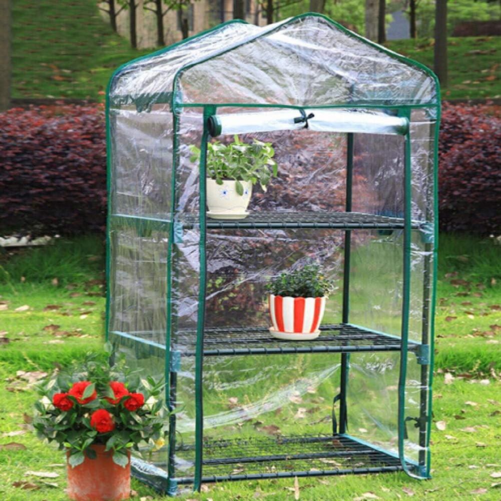 FRFJY Mini Mat/ériau Imperm/éable 126x69x49cm De PVC De Jardin De Serre Chaude Dusine Verte De M/énage De Trois Planchers