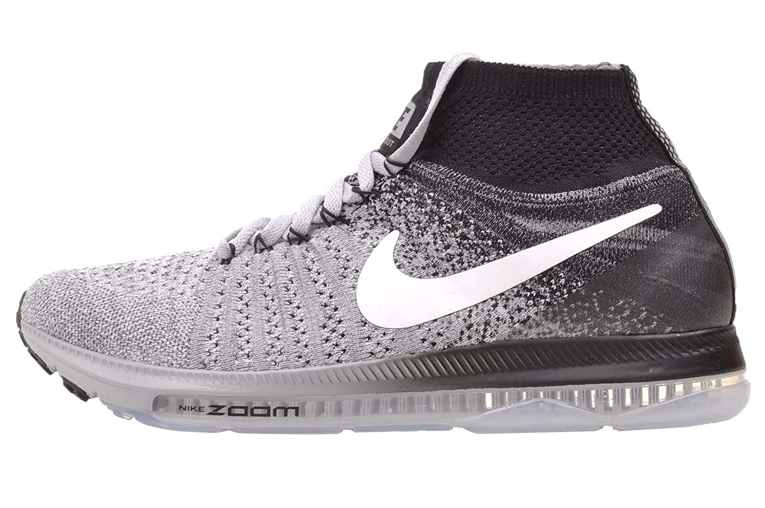 Nike Women's Zoom All Out Flyknit Running Shoes B01M8HX674 8.5 B(M) US|Wolf Grey / White - Black
