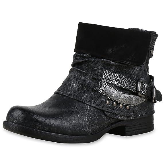 SCARPE VITA Damen Stiefeletten Biker Boots