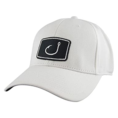 86a78092e63 ... discount avid mens fitted fishing hat white d7b82 fa709