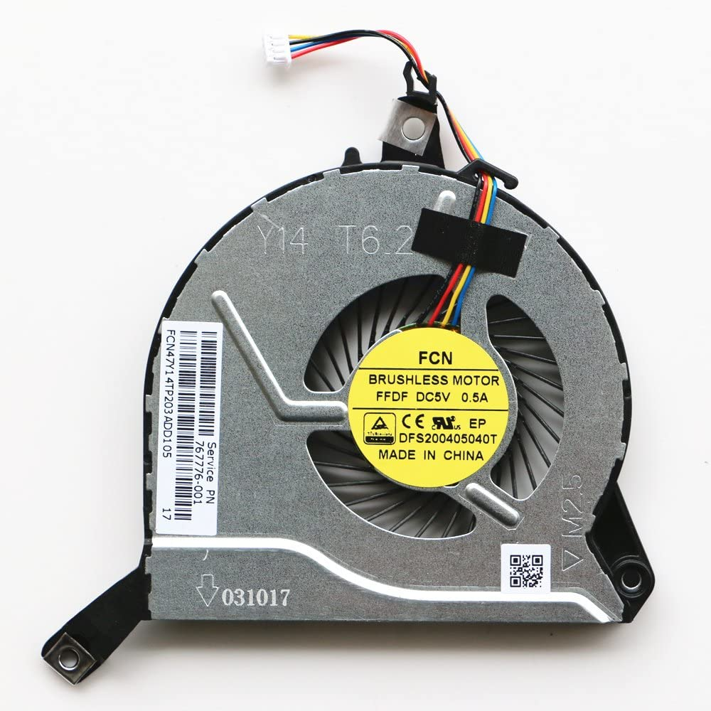 767776-001 Laptop Fan for HP 15-P076TX 15-P074TX 15-P075TX 15-P098TX 15-P105NR 15-P261NE CPU Cooling Fan