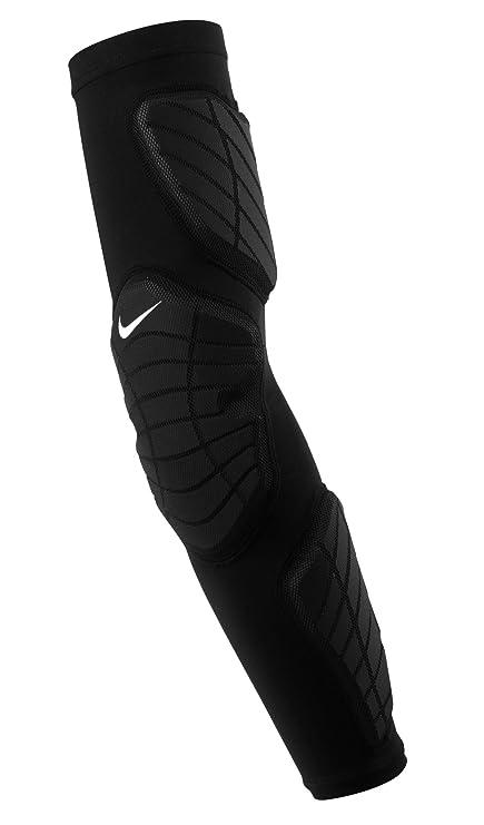 d4da9a8da3 NIKE Adult Hyperstrong Padded Arm Sleeve Left Arm,(Black/White,Small/