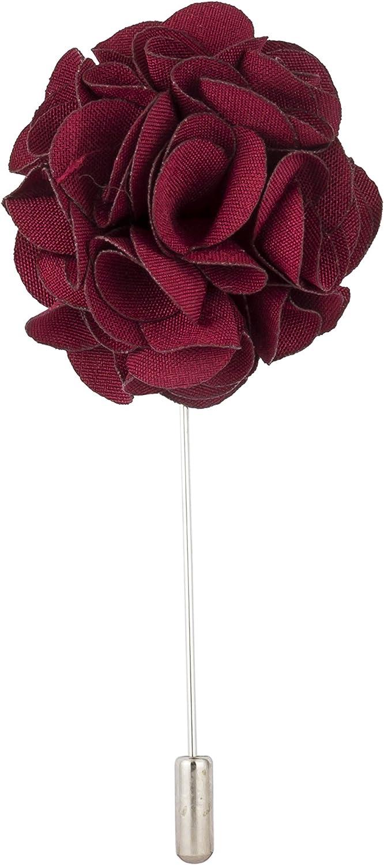 AN KINGPiiN Lapel Pin for Men Handmade Bunch Flower Brooch Suit Stud, Shirt Studs Men's Accessories (Maroon)