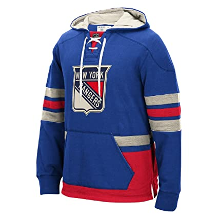 "183f8f1d3d2 New York Rangers Men's NHL CCM ""Lace Em Up"" Pullover Hooded ..."