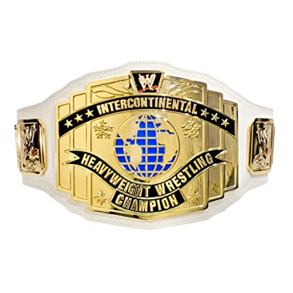 WWE - Réplica del cinturón de campeón Intercontinental, color blanco