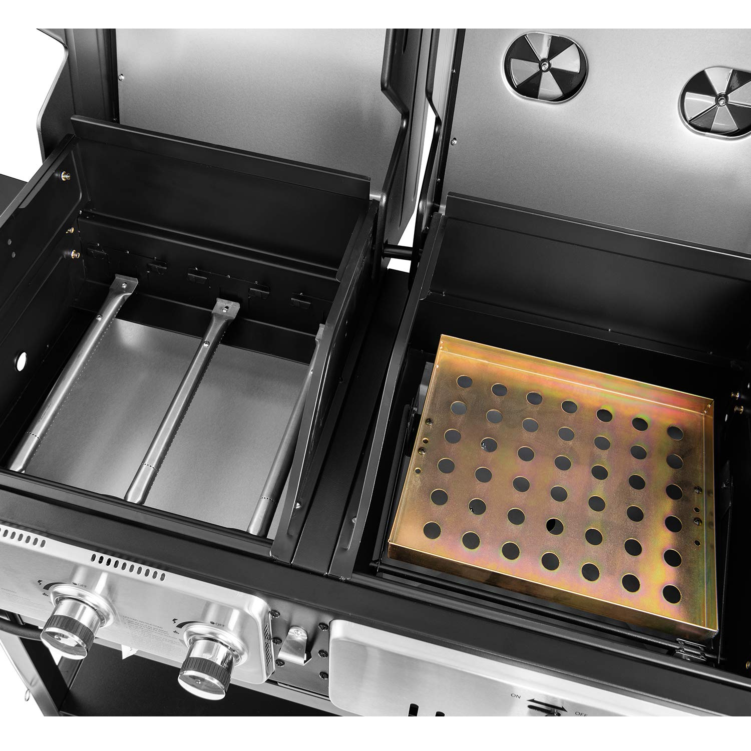 Royal Gourmet ZH3003 Dual 3-Burner Gas and Charcoal Grill ...