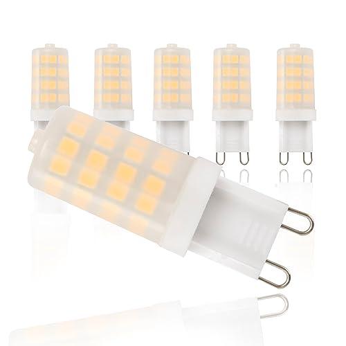 Bombillas LED I Foco LED I Kit de 5 unidades I Color de la luz blanco cálido I Bombilla LED de bajo consumo I G9 I 230 V I 5 x 3,5 W I Ø 16 mm
