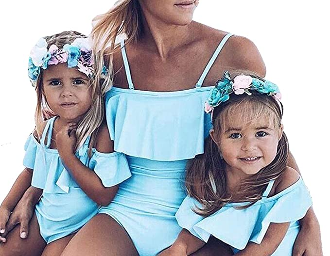 fcf132adbdc96 Mommy and Me Swimsuit Family Matching Mother Daughter One Piece Off ...