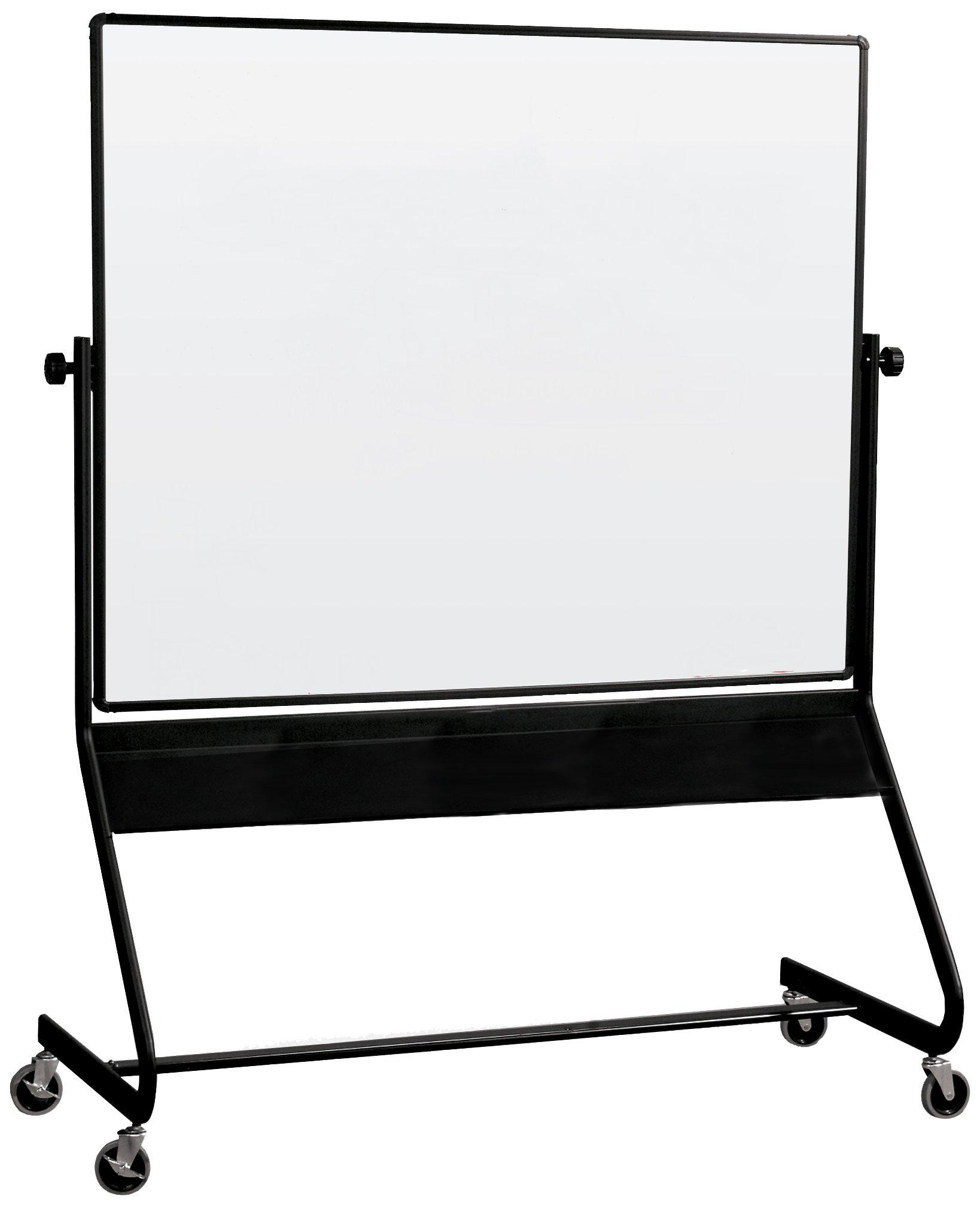 Best-Rite Euro Reversible Mobile Whiteboard, Porcelain Markerboard Both Sides, Panel Size 4 x 6 Feet (667RG-DD)