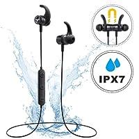 Auricolari Bluetooth 4.1 Magnetici Mpow S10, Auricolari Bluetooth IPX7 Impermeabile con AptX e CVC 6.0, Auricolari Wireless Sport Stereo con Microfono per L'esecuzione, Allenamento per iPhone 8/8X/7/7 Plus, 6s plus/6s, iPad, LG G2, Samsung Galaxy, Note 4/Note 3/Note 2, Sony, Huawei P9 ed altri Smartphone