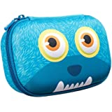 ZIPIT Wildlings Pencil Box for Kids, Cute Storage Case for School Supplies, Holds Up to 60 Pens, Zipper Closure, Machine Wash