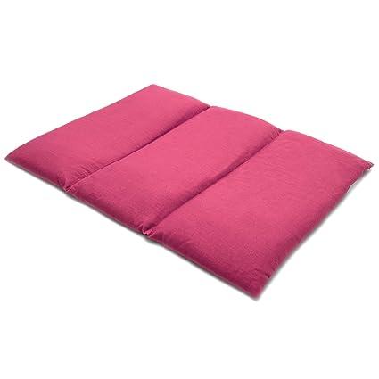 Saco térmico de semillas 40x30cm fucsia | Almohada para la espalda o el vientre | Para microondas y horno | Semillas de grosella