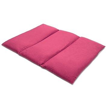Cojín térmico para la espalda o el vientre 40x30cm fucsia (Calor ...
