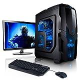 """Super Méga Pack - Pack Complet X85 Hydra Desktop • Ecran LED 22"""" Full HD • Claviers de jeu et Souris • Processeur AMD A8-7600 • Mémoire 8Go • Stockage 1000Go • Windows 7 Pro 64"""