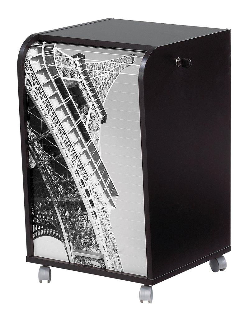 Simmob IBOX070NO751 Tour Eiffel Meuble Informatique de Bureau Panneau de Bois/Mélamine Noir 45 x 41, 4 x 69, 2 cm