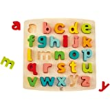 Hape Chunky Lowercase Puzzle Game, Multicolor, 5'' x 2''