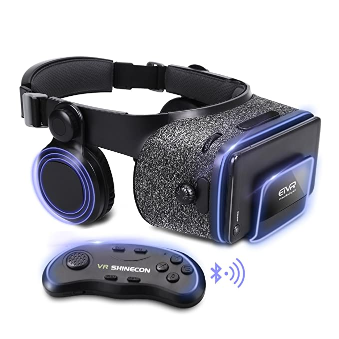 47c47984442f ETVR Upgraded Virtual Reality Headset VR Glasses with Remote Controller for  3D Movies and VR Games