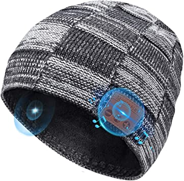 Bluetooth Headset Hat YI WORLD Smart Bluetooth Beanie Hat Wireless Headset Music Hat built-in Mic Answer calls Equipment