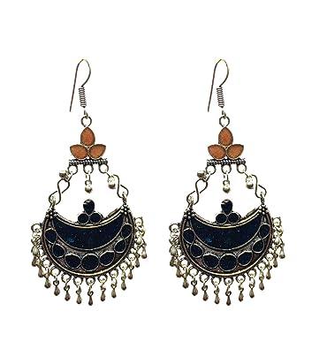 b43839e6e39 Buy Elegant Designs Oxidized Silver Plated Kuchi Afghani Handmade ...