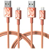 iFory Lightning Cable, iPhone Charger [Apple MFi Certified / 6ft 2 Pack/Orange] Fast Charging Cord Compatible with iPhone 11