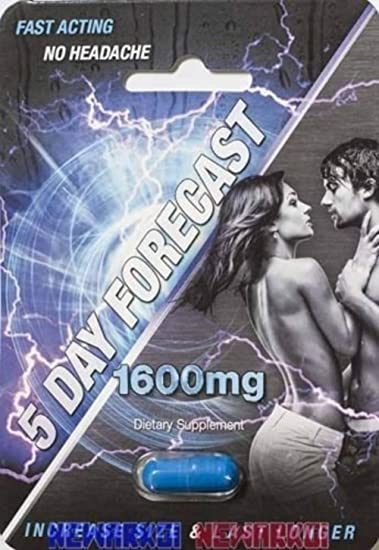 Amazon com: 5 Day Forecast 1600mg Dietary Supplement Pill 4 Pk